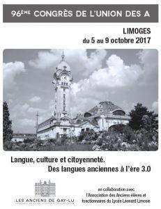 Congrès 2017 à Limoges